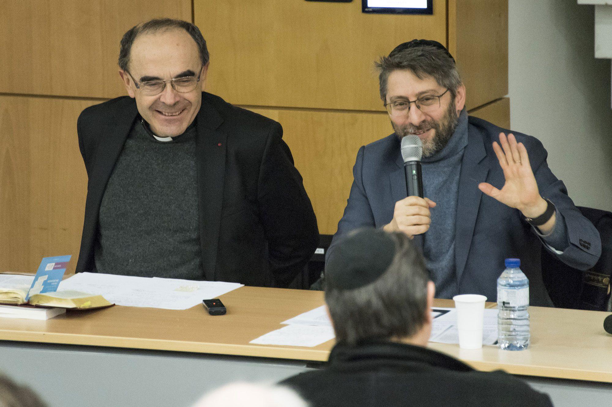 Rencontre entre le cardinal Barbarin et le Grand Rabbin de France Haïm Korsia