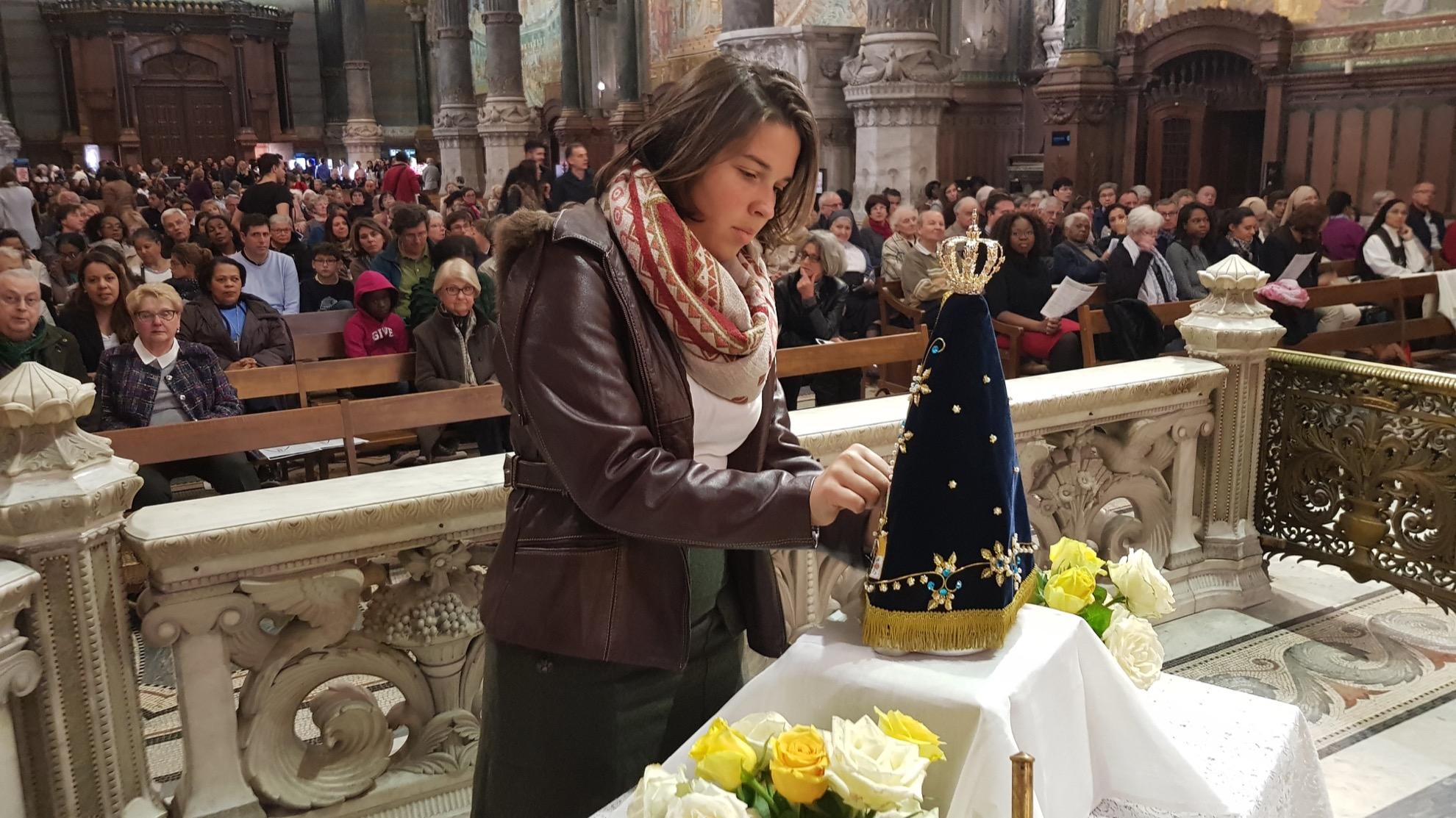 Notre-Dame d'Aparecida dans la crypte de Fourvière