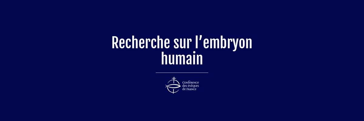 États généraux de la bioéthique : recherche sur l'embryon humain
