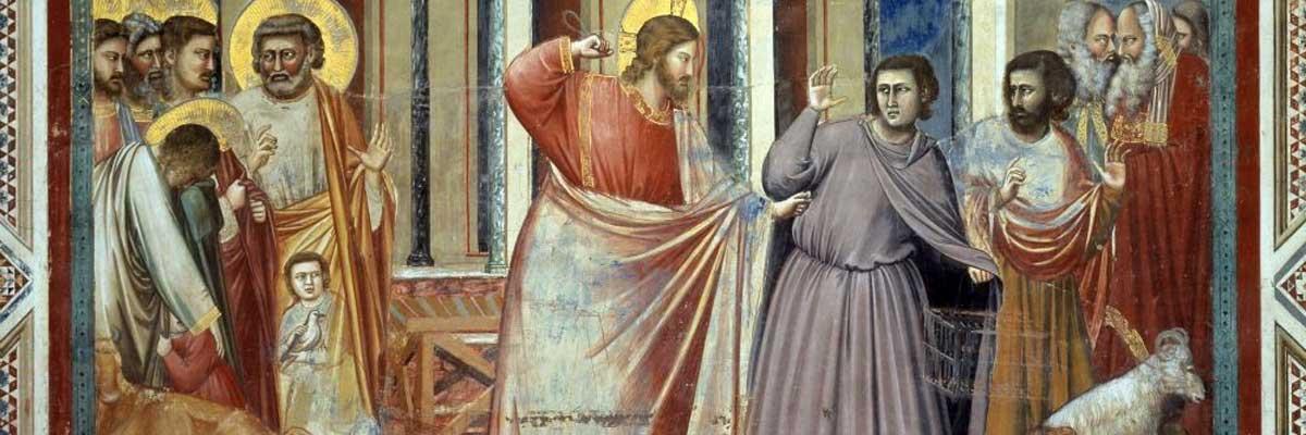 3e dimanche de carême (2018) avec l'oeuvre «Le Christ chassant les marchands du Temple»