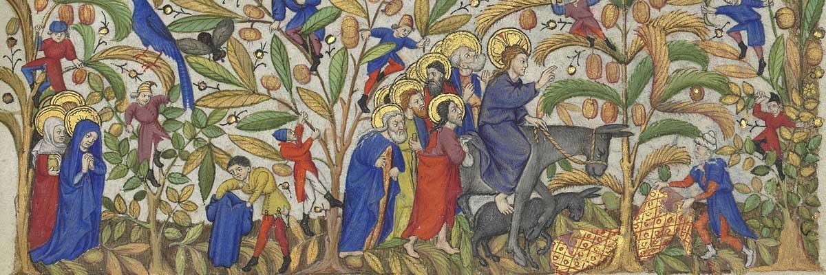 6e dimanche de carême (2018) avec l'oeuvre « L'entrée à Jérusalem »