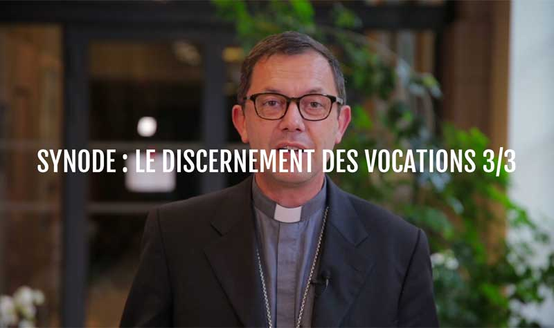 Le synode : le discernement des vocations 3/3