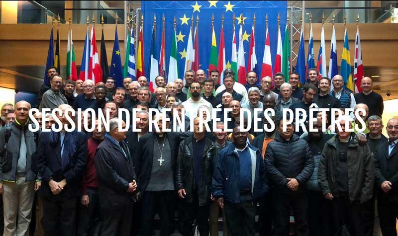 Session de rentrée des prêtres à Strasbourg 2018