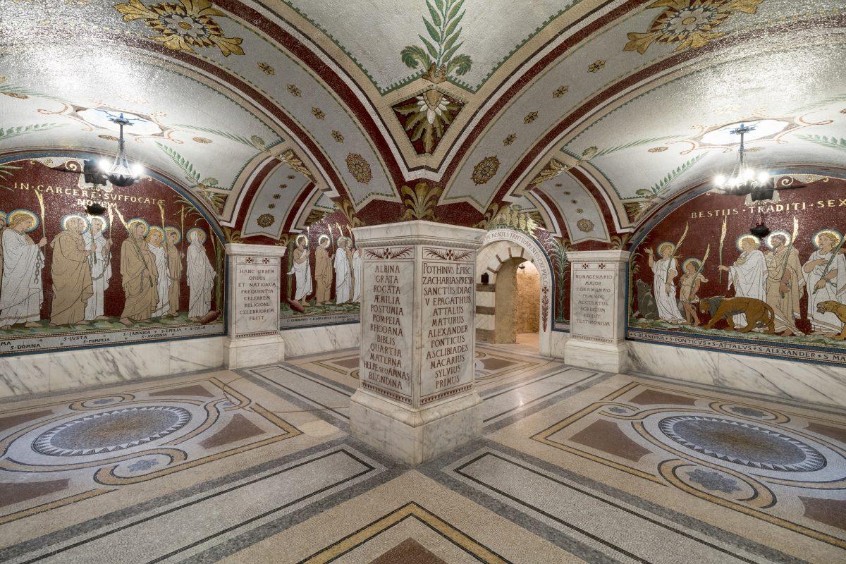 Mosaïque de la crypte de l'Antiquaille