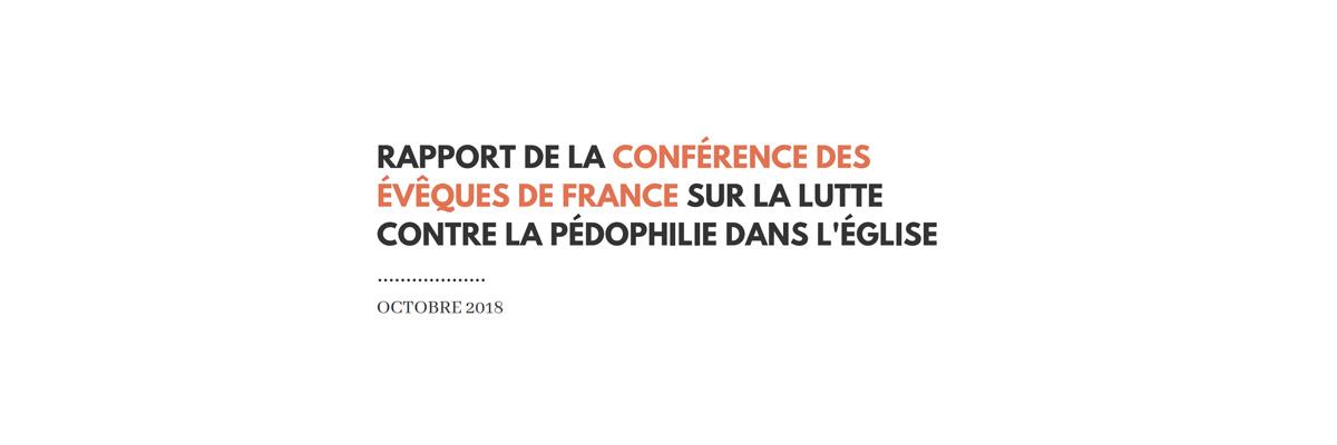 Rapport de la CEF sur la lutte contre la pédophilie dans l'Église