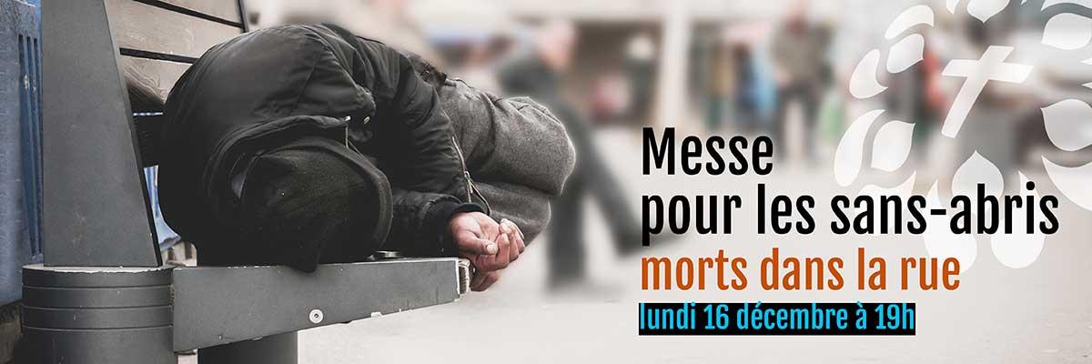 Pour les personnes sans-abris décédées