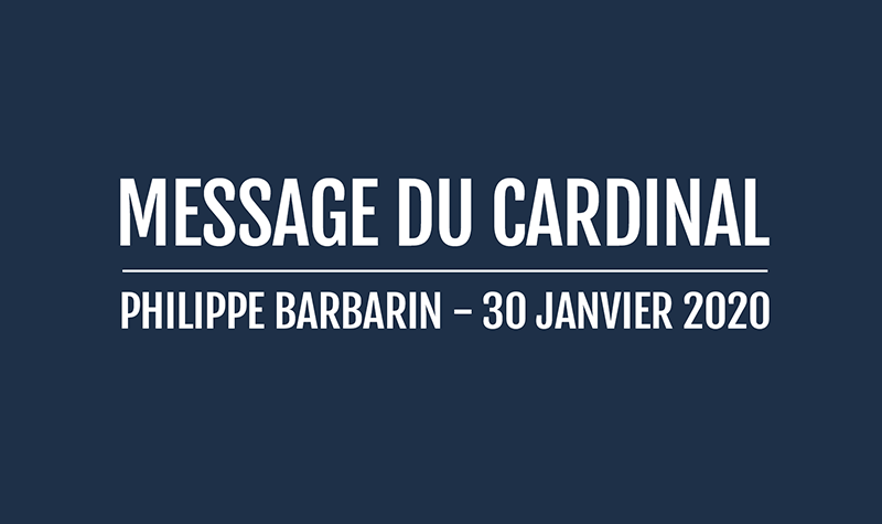 Message du cardinal Barbarin