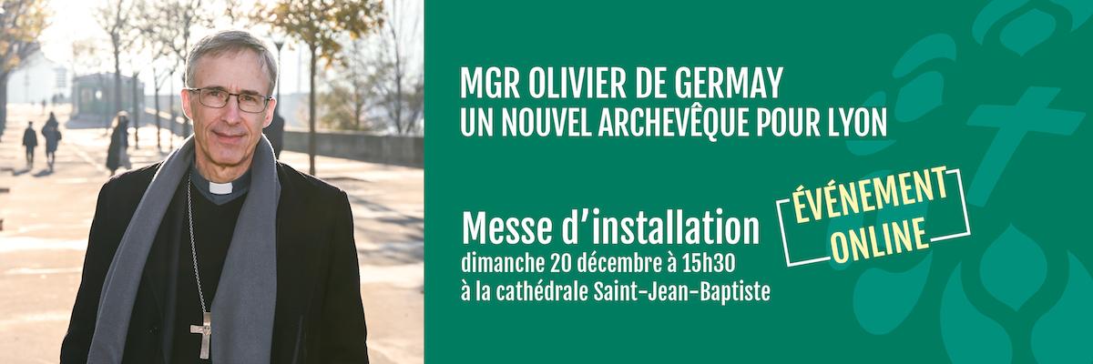 Messe d'installation de Mgr Olivier de Germay