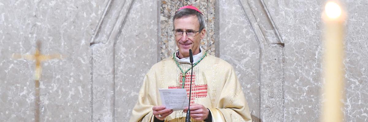 Première allocution de Mgr Olivier de Germay