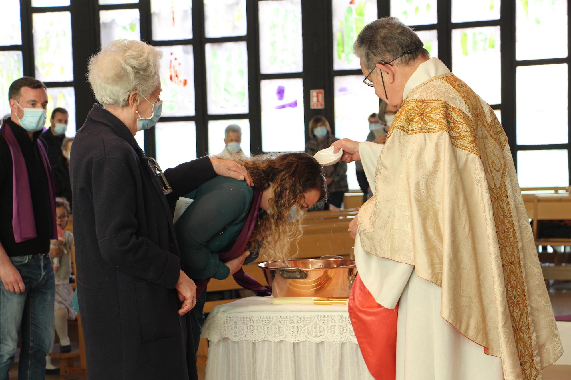 Baptême à la paroisse de Sainte-Foy
